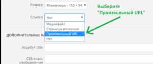 """Нажимайте на кнопку """"Произвольный URL"""" как показано на изображении"""